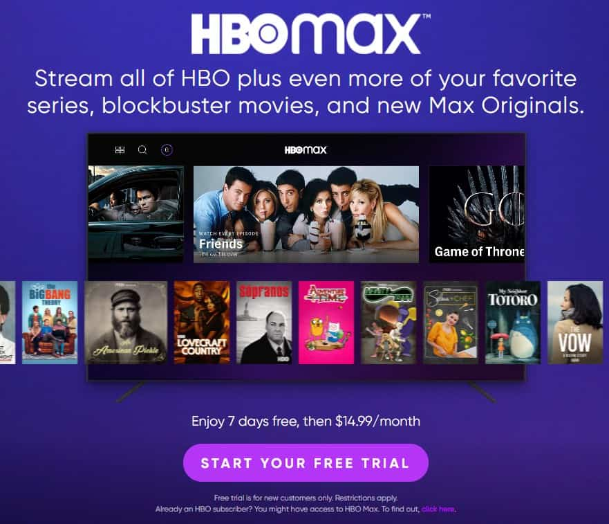 Get a FREE HBO Max Trial